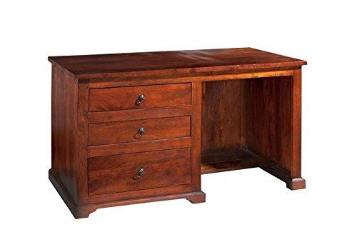 MASSIVMOEBEL24.DE Kolonialer Schreibtisch Akazie massiv Möbel Oxford #512
