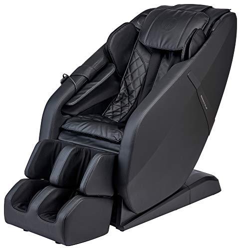 FR-6KSL Massage Chair, Full Body Shiatsu L-Track Rolling System with Built in Heat, Foot Rolling, Space Saving, Zero Gravity Massage Recliner, Bluetooth Speakers, 3 Language Smart Remote (Black)