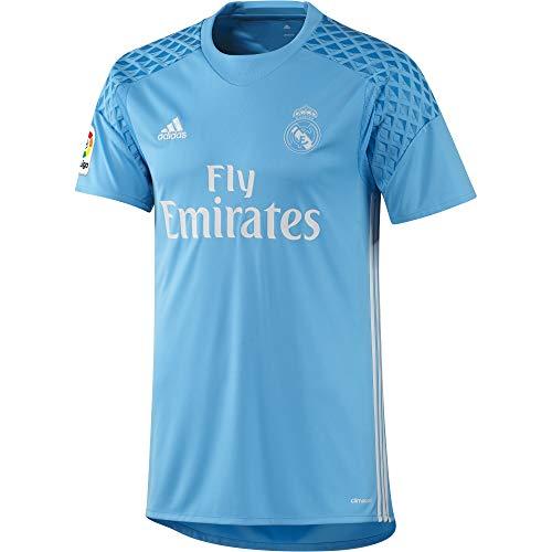 adidas H Gk JSY Camiseta 1ª Equipación de Portero del Real Madrid CF 2015/16, Hombre, Azul/Blanco, XL