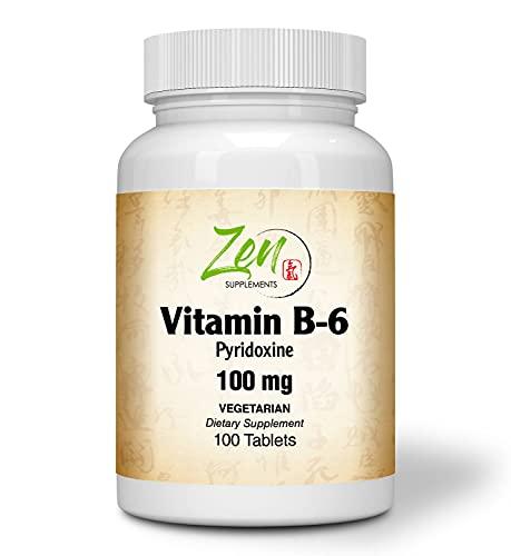 Best Vitamin B6 - 100mg Pyridoxine Vitamin B-6 Tablet - Support Cardiovascular Health, Healthy Immune System, Brain & Nerve Function