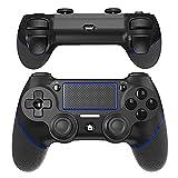 JOYSKY Mando para PS4 Inalámbrico Controlador De Juegos Inalámbrico con Control De Vibración Dual del Motor De Doble Palanca (Azul)