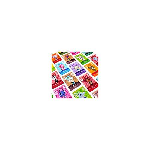 FFIT 72 PCS ACNH NFC Tag Tarjetas DE Juego para NUEVOS HORIZONES CARACTERÍSTICO Compatible CARACTERÍSTICO RARAJE Tarjetas DE VILLADOR con EL Switch/Switch Lite/Mini Tarjetas con Estuche de Cristal