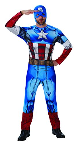 Rubies Disfraz de Capitán América de Marvel de la Marca, Adulto, Talla XL