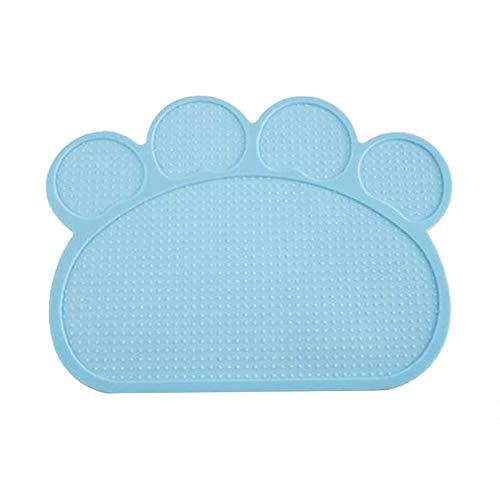 yyuezhi Silicone Waterproof Pet Food Mat Praktische Bodenschutzmatten Tiernahrung Matte Wasserdicht Hohe Qualität Silikonmatte rutschfeste Napfunterlage Hund Katzen Hellblau Napfunterlage