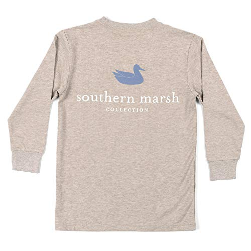 Youth Ls Authentic, Washed Burnt Taupe, Youth Medium