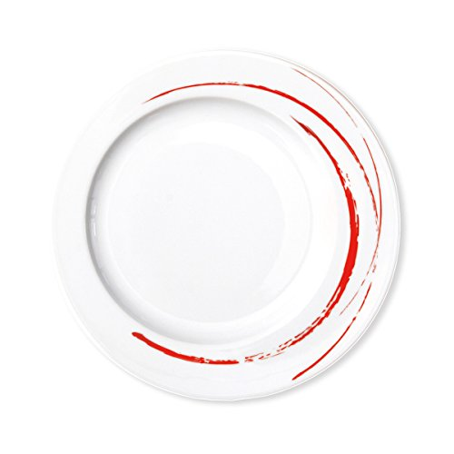 Bruno Evrard Assiette Dessert en Porcelaine 23cm - Lot de 6 - GOUSTO