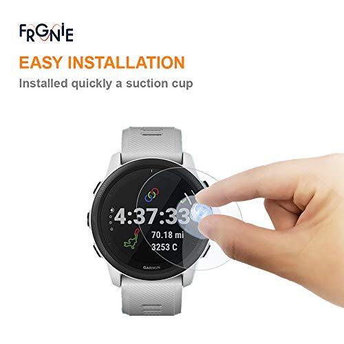 (3枚入り) Frgnie Garmin ForeAthlete 745 スクリーン保護フィルム, 9H 強化 ガラス 保護フィルム 対応 Garmin ForeAthlete 745 Forerunner 745 スマート腕時計