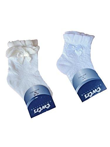 Ewers Festliche Socken für Taufe Taufsocken Hochzeit Weiß (92/98/104 (23-26), Ivory)