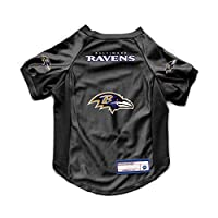 Littlearth NFL Baltimore Ravens Pet Stretch Jersey, Medium