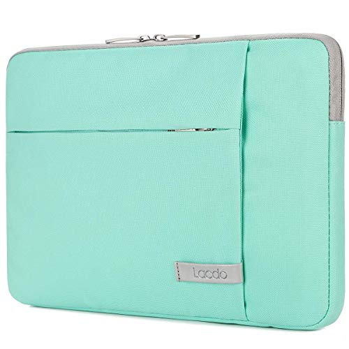 Lacdo 14 Inch Laptop Sleeve Computer Case Portable Bag for Dell Inspiron 14 5481 / HP Stream 14' / Acer Spin 3 / ASUS L402YA / HP Acer Chromebook 14, S330 / Flex 14 Notebook, Water-Resistant, Green
