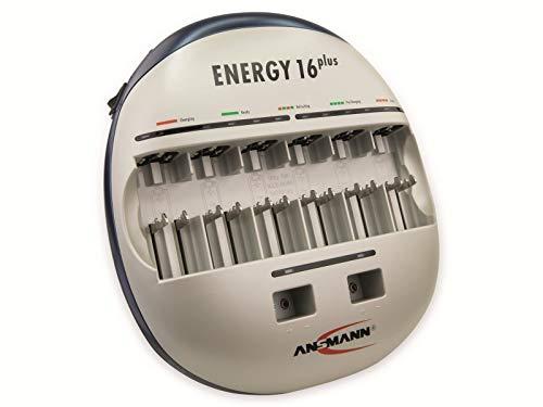 Ansmann 5207123/US Energy 16 Plus Battery Charger Maintenance Device