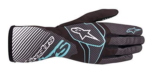 Alpinestars Karthandschuhe Tech 1-K Race V2 Carbon Black - Turquoise L