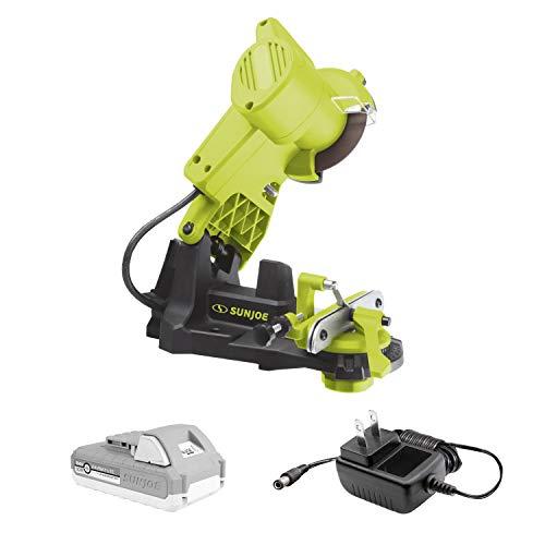 Sun Joe 24V-CSSHRP-LTE 24-Volt Cordless Chainsaw Sharpener, Kit (w/2.0-Ah Battery + Quick Charger)