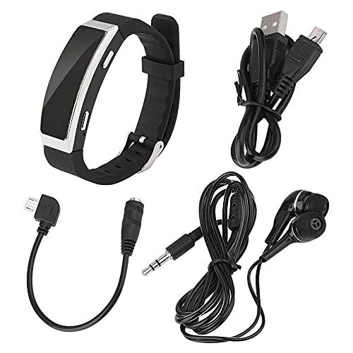 Yuyanshop SK-201 8 GB grabadora de voz digital USB pulsera reproductor MP3 pulsera dictáfono para reunión conferencias conversación entrevista deportes