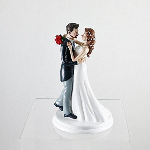 Dekora 305001 Tanzendes Brautpaar Figur für Hochzeitstorte 20 cm, Schwarz/Weiß, 20cm