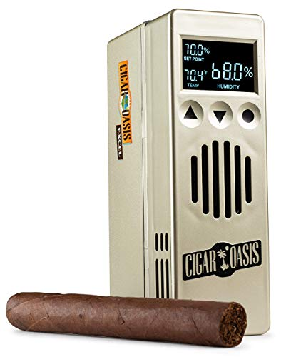 Cigar Oasis Excel 3.0 Electronic Humidifier for 1-4 Cubic ft. (75-300 Cigar Count) Humidors – The Original Set it and Forget it humidification Solution for Any Style Cigar humidor or Cigar Cooler