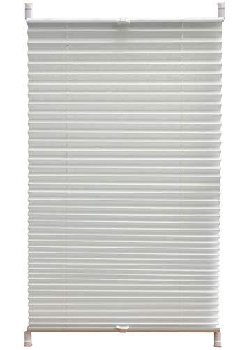 F&T Plissee, Polyester, Weiß, 90 x 220 cm