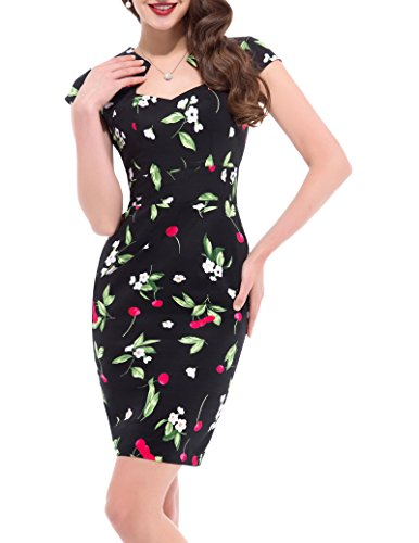 GRACE KARIN GRACE KARIN Damen Partykleid Bodycon Kleid Baumwolle etuikleid Stretchkleid M CL7597-5