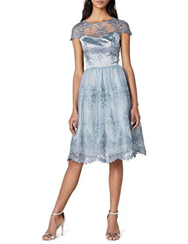Chi Chi London Ella-Rose Vestito Elegante, Blu (Blu), 48 Donna