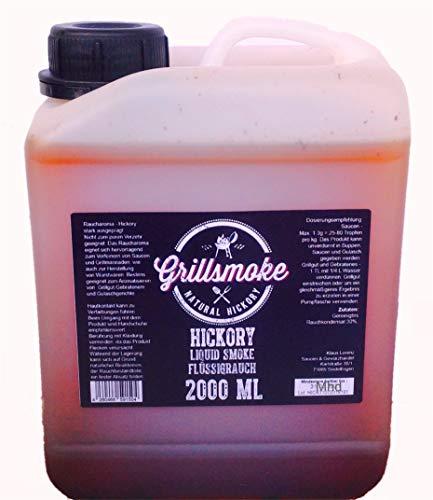Grillsmoke® Flüssigrauch, Liquid Smoke Hickory pur 2L ohne Zusatzstoffe