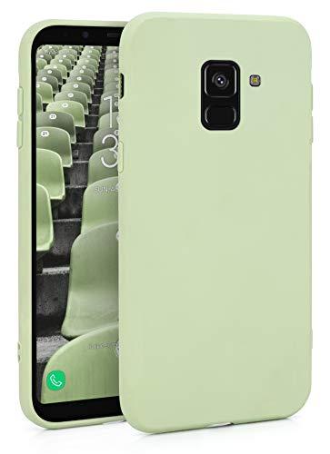 MyGadget Funda Slim en Silicona TPU para Samsung Galaxy A8 (2018) - Anti Polvo Carcasa Mate Protectora Ultra Delgada 1mm Suave Cómoda y Ligera - Verde Menta
