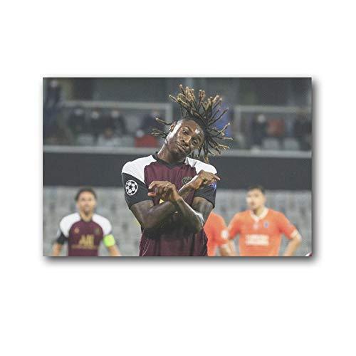 LANTOU Moise Kean Football Star Poster Stampa Foto Art Painting Tela Poster 20 × 30 cm