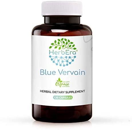 New Orleans Mall Blue Vervain 120 Capsules 500 mg Organic Verbena sale