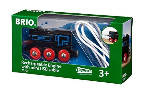 BRIO Bahn 33599 - Schwarze Akku-Lok mit Mini-USB