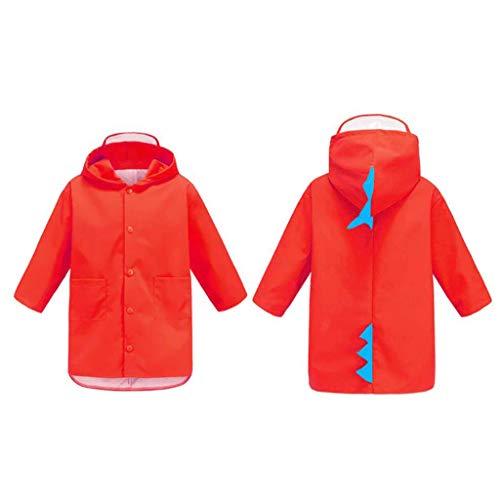 Manteau imperméable Raincoat Jardin d'enfants for les enfants Imperméables garçons et les filles de petit dinosaure imperméable Rain Poncho (Couleur: Rouge, Taille: S) ( Color : Red , Size : XXXL )