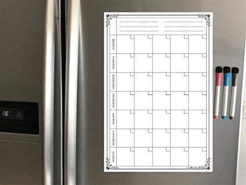 Lifekrafts Magnetic Monthly Planner Sheet with 3 Pens Good Gift for Any Occasion