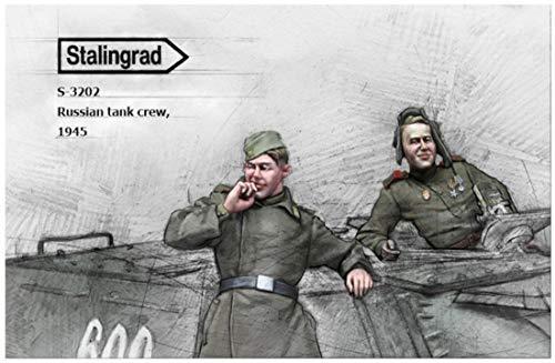 スターリングラード 1/35 第二次世界大戦 ロシア戦車兵2 小休止中の戦車兵 1945 2体セット レジンキット ST3202