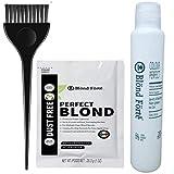 Perfect Blond Hair Bleach Toner Lightener Powder Lightening Kit 20 Volume 120ml Developer & Brush & Gloves - Made in Italy by Blond Forte