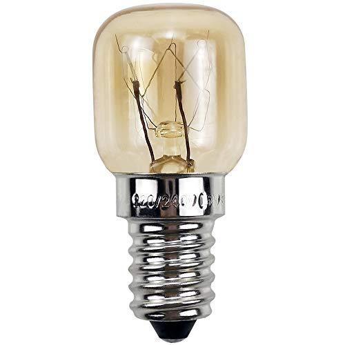 BrightBulb Four Ampoules E14 220V Pour Micro-Ondes Réfrigérateur Cuisinière Applications Hotte 300 Degree 4 Pack-Argent-15W