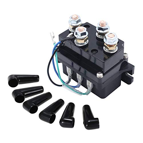 KKmoon 12V Heavy Duty Winch Solenoid Relay Upgrade Equiv 500A Amp Recovery...