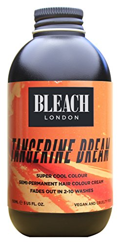 Bleach London Super Cool Semi-Permanent Hair Color Cream, 150 ml, Tangerine Dream