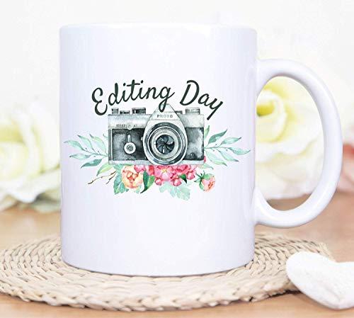 Taza de día de edición personalizada, taza de café de día de edición, taza de café de día de edición personalizada, taza de fotografía, taza de cámara, taza de cámara personalizada, taza de día de fot