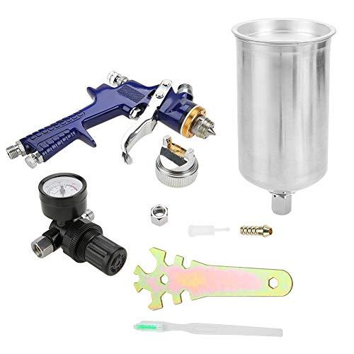 Hilitand Druckluft-Farbspritzpistole mit Behälter für Fassungsvermögen 1000 ml Drucksprüher Farbspritzpistole Modus Stromversorgung durch Schwerkraft 1,4 mm