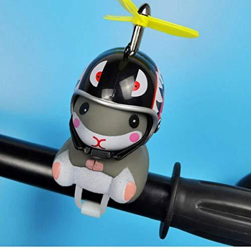 1PC del fumetto Poco Small Animal Bicicletta Bell resistenti e leggeri Criceto sveglio della bici di montagna del manubrio Accessori Luce