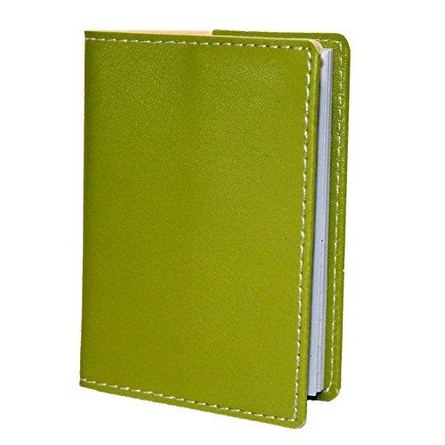 Listín telefónico de bolsillo en polipiel verde