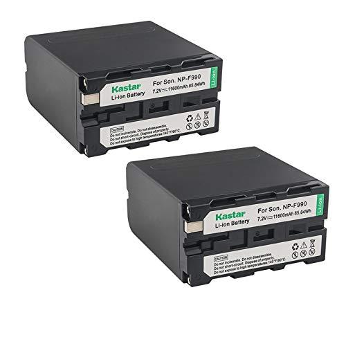 Kastar NP-F990 Battery 2 Pack, 7.2V 11600mAh Replacement for NP-F975 NP-F970 NP-F960 NP-F950 NP-F930 NP-F770 NP-F750 NP-F730 NP-F570 NP-F550 NP-F530 NP-F330 Battery, Sony Camcorder and LED Video Light -  BA-2B-F990