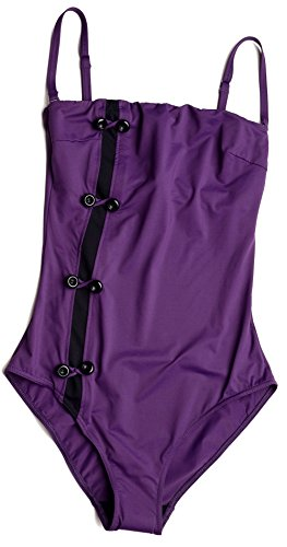 Huit Strapless Underwire One Piece Swimsuit 17,Blueberry, 34D