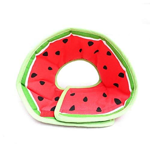 Unicoco Cat Watermelon Hundehalsband Hundetrainings-Kragen-Schutz Anti-beißen Cotton Ring Pet Kegel Logo Hunde