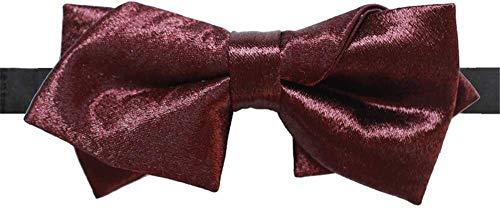 Udol Pajarita Formal Vino Lazo de Seda roja de la Moda del Lazo de la