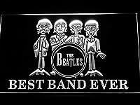 The Beatles Drum Best Band Ever LED看板 ネオンサイン ライト 電飾 広告用標識 W40cm x H30cm ホワイト