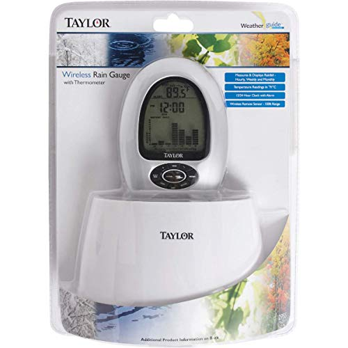 Taylor 2755 Digital Wireless Rain Gauge & Thermometer