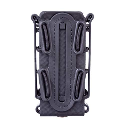 ALLESOK Mag Pouch Molle, 9mm Luger Magazintasche Maghalter Fastmag Airsoft Magazine Carrier für Ar15/45 ACP/5.56/7.62 Mag (Schwarz)