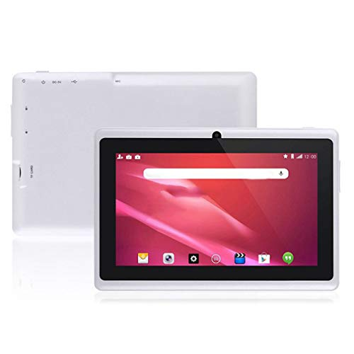 Tableta portátil de 7 Pulgadas para Tableta Allwinner A33 Tablet Pc 512Mb + 4Gb Blanco EU