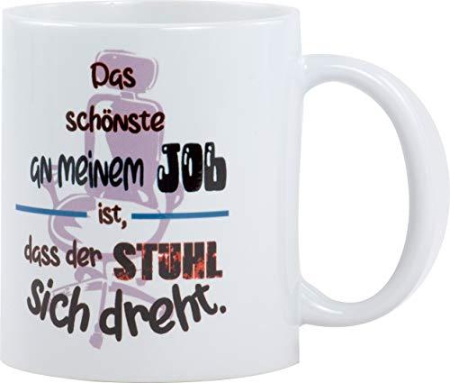 Redprice GmbH Das Schönste An Meinem Job Kaffeetasse Bedruckt Spruch-Tasse Foto-Tasse Chef Teetasse Lustig Witzig Geschenk Arbeit Büro Chef • Lebenslange Bruchgarantie •