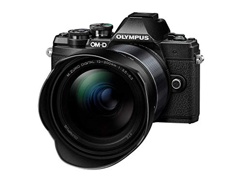 Olympus OM-D E-M10 Mark III Kit per Fotocamera con Sistema Micro Quattro Terzi, Sensore da 16 MP, Mirino Elettronico, Video 4K, Wi-Fi, Nero, Include M.Zuiko Digital ED da 12-200mm F3.5-6.3, Nero