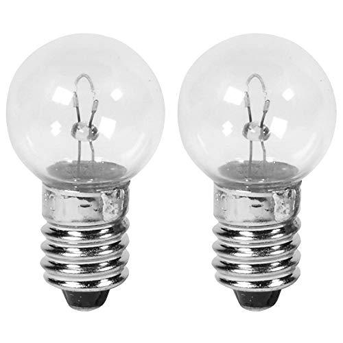 Cyclingcolors - Lote de 2 bombillas de 6 V, 0,45 A, 2,7 W para atornillar CULOT E10 para bicicleta y faro delantero